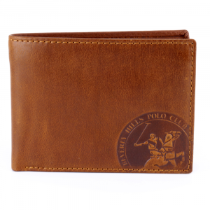 Man wallet Beverly Hills Polo Club CIRCLE BH-1192 CUOIO