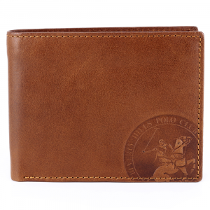 Man wallet Beverly Hills Polo Club CIRCLE BH-1194 CUOIO