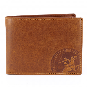 Man wallet Beverly Hills Polo Club CIRCLE BH-1193 CUOIO