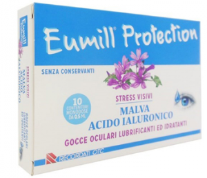 EUMILL PROTECTION STRESS VISIVI GOCCE OCULARI A BASE DI MALVA E ACIDO IALURONICO - 10 FLACONCINI MONODOSE