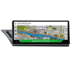 ANDROID 10.25 pollici navigatore per Audi A4/A5/S5/RS4/RS5/8K/B8/8T/4L 2008-2016 MMI 3G GPS WI-FI Bluetooth MirrorLink 4GB RAM 64GB Octa-Core 4G LTE