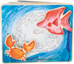 Libro illustrato Mondo sottomarino, interattivo