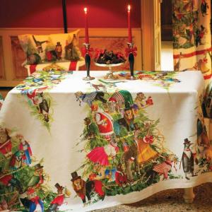 Tovaglia Natale rettangolare 170x270 cm Tessitura Toscana MAGICAL TREE