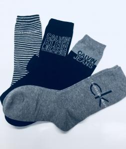 Confezione 4 calze donna grigie Calvin Klein