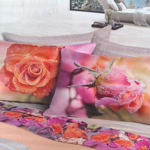 Lenzuola invernali matrimoniale 2 piazze caldo cotone Bocciolo di rosa