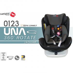 Seggiolino auto Isofix girevole 0-36 kg UNA Jaguard