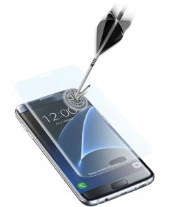 Cellularline Second Glass Ultra Curved - Galaxy S7 Edge Vetro temperato curvo e ultra protettivo Trasparente