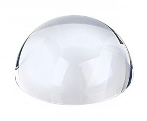 Fermacarte mezza sfera in vetro cm.8,8x8,8x4h