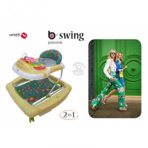 Girello Dondolino per Bambini BACIUZZI B-SWING Pavone