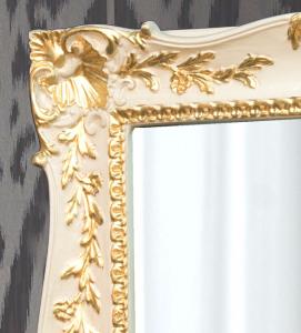 Specchiera rettangolare foglia oro su laccatura