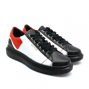 Sneaker bianca/rossa/nera Guess