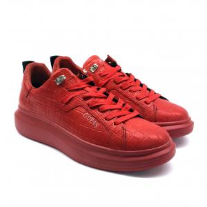 Sneaker rossa effetto cocco Guess