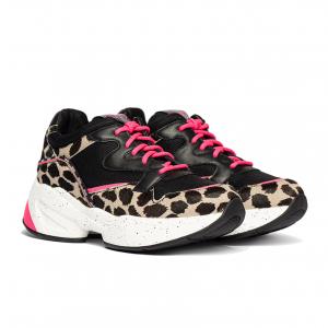 Chunky sneaker nera/animalier/fuxia Liu Jo