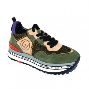 Sneaker verde con fondo platform Liu Jo