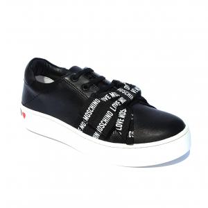 Sneaker nera con fiocco Love Moschino