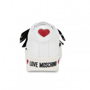 Sneaker bianca con fiocco Love Moschino