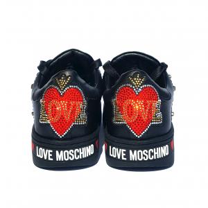 Sneaker nera con bottoni Love Moschino