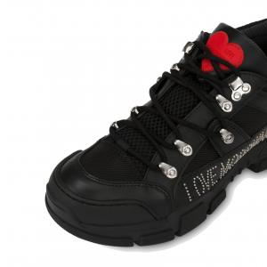 Sneaker trekking nera Love Moschino