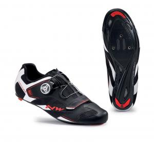 NORTHWAVE Scarpe ciclismo strada uomo SONIC 2 PLUS nero/bianco/rosso