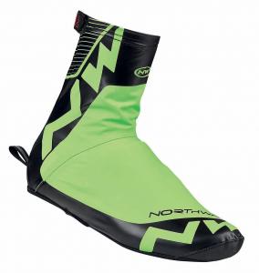 Set 3 NORTHWAVE Copriscarpe ciclismo uomo ACQUA verde fluo/nero