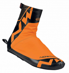 Set 3 NORTHWAVE Copriscarpe ciclismo uomo ACQUA arancio fluo/nero