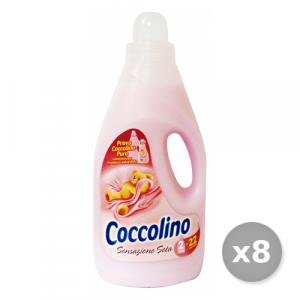 Set 8 COCCOLINO Ammorbidente 2 Lt ROSA SENSAZIONE Seta Detergenti Casa
