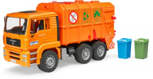 BRUDER Man Tga Trasporto Rifiuti Arancione Mezzo Lavoro Gioco Maschio Bimbo 294