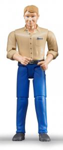 BRUDER Uomo Pelle Chiara Con Jeans Personaggi Playset Maschili Gioco Maschio 751