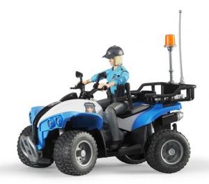 BRUDER Quad Polizia Con Poliziotta E Accessori Jeep Quad Gioco Maschio Bimbo 964