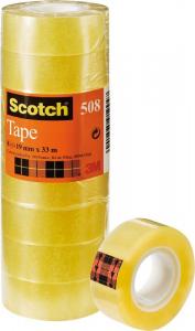3M Confezione 8 Pezzi Scotch Trasparente Misura 19Mm X 33 M Nastro Adesivo