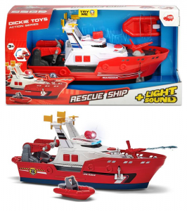 SIMBA Dickie Action Series Barca Harbour Rescue Cm 33, Luci E Suoni, Try Me