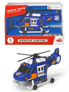 SIMBA Dickie Action Series Elicottero Cm. 18, Luci E Suoni, Le Pale Si Muovono,