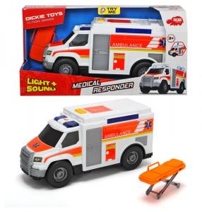 SIMBA Dickie action series ambulanza con barella luci e suoni 30cm