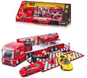 BBURAGO Collezione Ferrari Bisarca (1Car) R&P 1/43 Personaggi E Playset