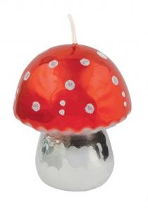 Candela fungo rosso lucido grande