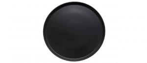 Piatto pizza in porcellana nero opaco