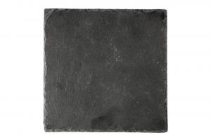 Piatto quadrato in ardesia naturale cm.25x25x1h