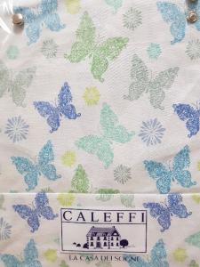 Completo lenzuola Caleffi Puro cotone GAIA Bluette - 3 misure
