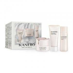 KANEBO night lipid wear cofanetto crema notte+detergente+lozione 40ml+20ml+30ml