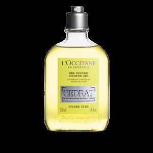 L'OCCITANE cedrat bagnoschiuma gel doccia da uomo per corpo e capelli  250ml