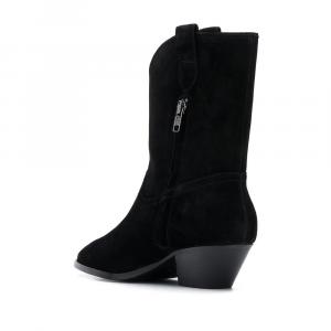 Stivali in pelle scamosciata nera Foxy Black - ASH