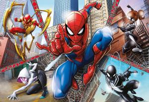 Puzzle Clementoni- Supercolor -Spider Man-104 Pezzi Maxi