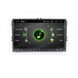 ANDROID 9.0 autoradio navigatore per Golf 5, Golf 6, Passat, Tiguan, Jetta, Polo, Touran, Caddy, Scirocco GPS WI-FI Bluetooth MirrorLink