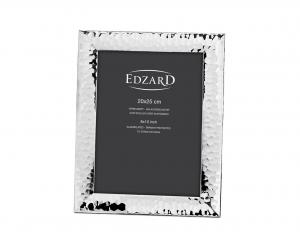 Portafoto Gubbio 20x25 placcato argento antiossidante stile Martellato cm.25x20