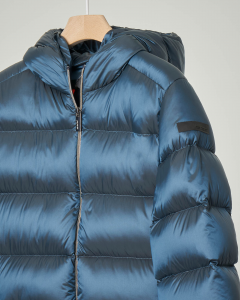 Piumino blu indaco con cappuccio 12-16 anni