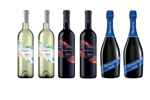 2 Bottiglie Vino Spumante MIONETTO  - 2 CATARRATO IGP e 2 NERO D'AVOLA IGP Sicilia