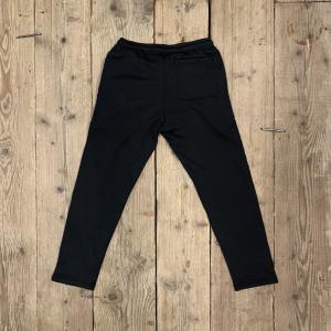 Pantalone Iuter Ribbon con Bande Logate Laterali Nero