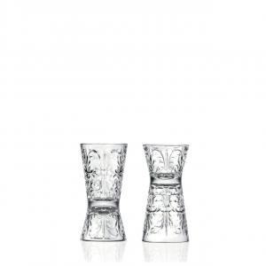 Set 6 pezzi misurino per Barman Jigger in vetro RCR Tattoo CL 6 e 3 stile Tattoo cm.10h