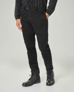 Chino tasca america nero in gabardina stretch