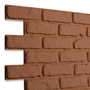 Modern Covered Brick Panel Cocciopesto